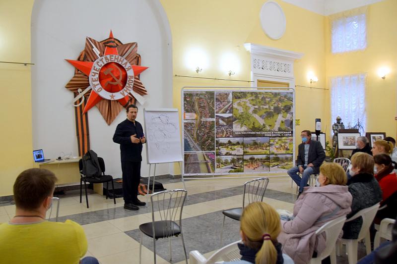 Благоустройство набережной и сквера в  Хостинском районе