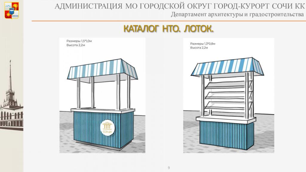 Внедрение нестационарных торговых объектов в архитектурный облик Сочи