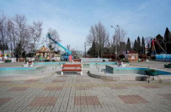 В Адлерском парке отдыха продолжается ремонт