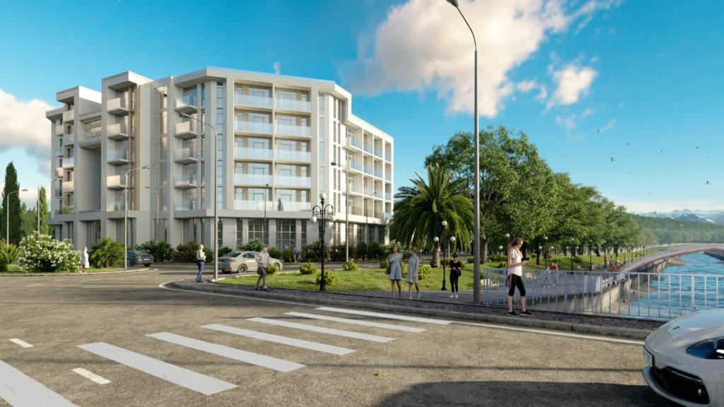 Проект медицинского центра «Пансионат «Бургас» и гостиницы в микрорайоне Мамайка