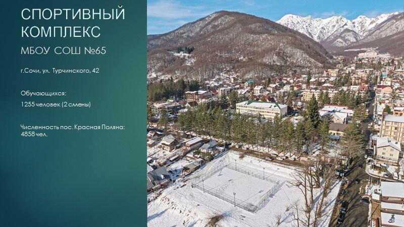 Концепция размещения Дворца спорта в пгт. Красная Поляна