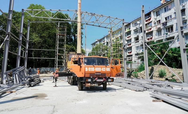 В Сочи готовность школы в микрорайоне Мамайка составляет 60%