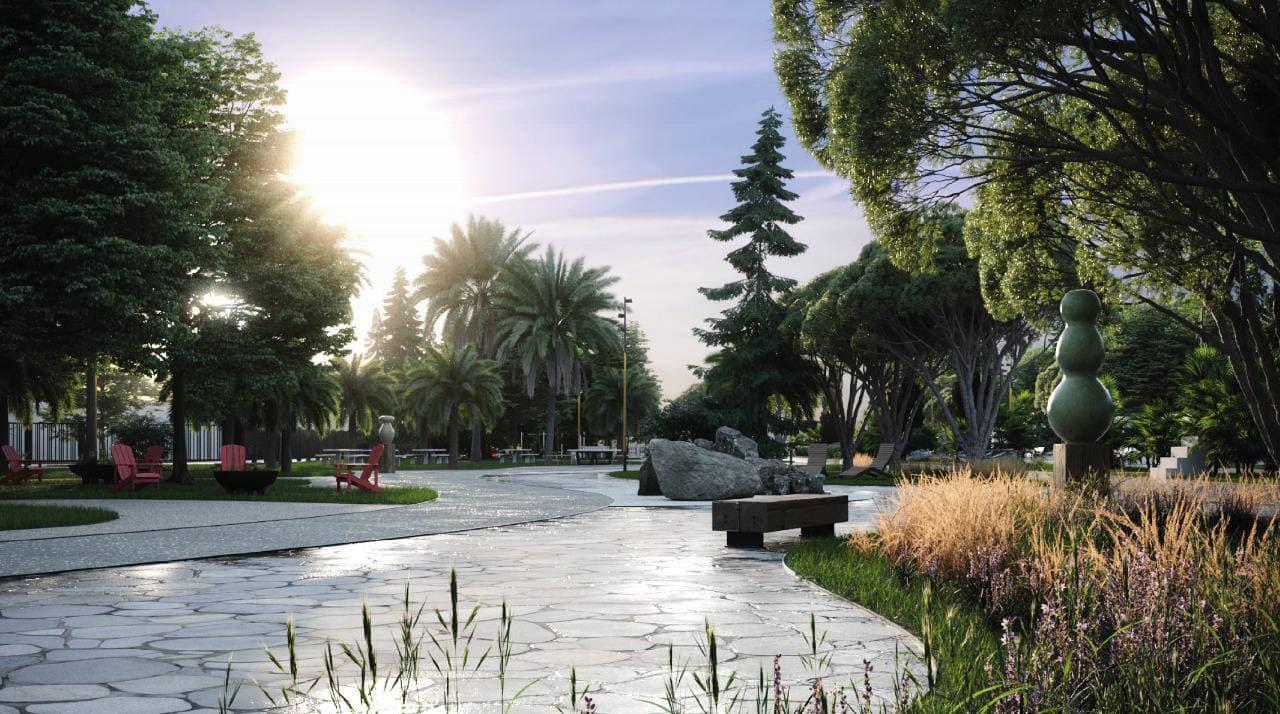 Парк им. 30 летия Победы в Лазаревском районе Сочи благоустроят за 56 млн рублей