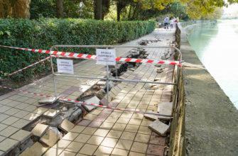 В Сочи восстановят разрушенный стихией участок набережной реки Хосты